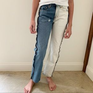 Levi's Bottoms - Levi's 550 Relaxed Custom Bleach and Sewing